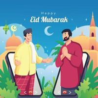 gelukkig eid mubarak-ontwerp vector
