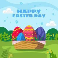 gelukkige paasdag eieren achtergrond vector