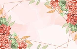 lente bloem frame achtergrond vector