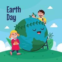 aarde dag achtergrond vector