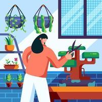 tuinieren thuis concept