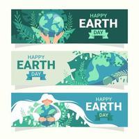 aarde dag banner collectie