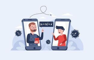 online cursussen en tutorials concept vector