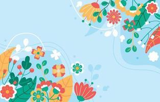 bloemen lente seizoen achtergrond vector