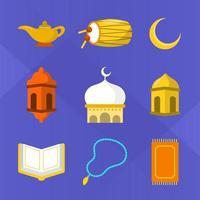 platte eid mubarak icoon collectie