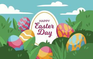 Easter egg's achtergrond vector