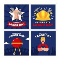 harde werkers verenigen zich op arbeidsdag vector