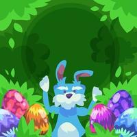 paasei bunny achtergrond