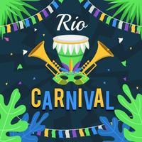 rio brazil festival vector