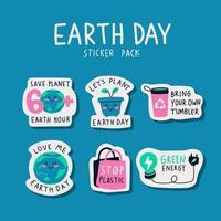 stickerpakket voor de dag van de aarde