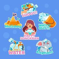 al het water van het songkran-festival vector