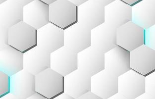 witte zeshoek abstracte achtergrond vector