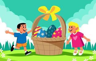 gelukkige kinderen vieren Pasen