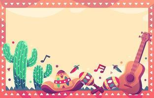 cinco de mayo achtergrond met mexico-element