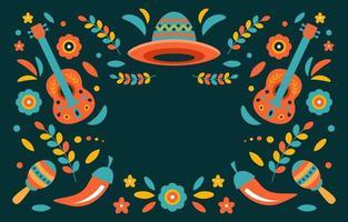 kleurrijke cinco de mayo op donkere achtergrond