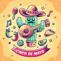cactus gitaarspelen bij cinco de mayo