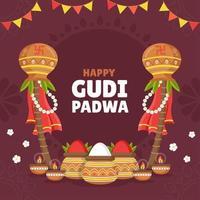het rustige en serene gudi padwa-festival
