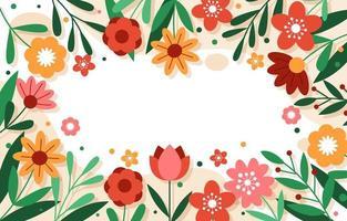 kleurrijke bloemen lente achtergrond vector