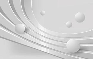 3D-kromme witte achtergrond vector