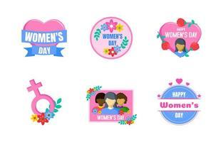 sticker voor de diversiteit van de dag van de vrouw vector