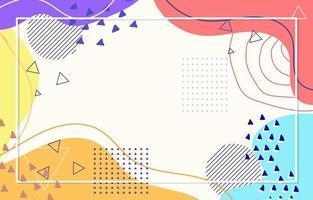 abstracte kleurrijke platte achtergrond vector