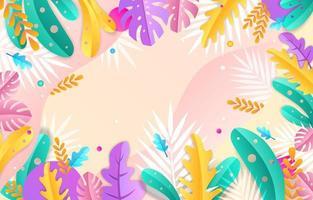 bloemen kleurrijke achtergrond vector