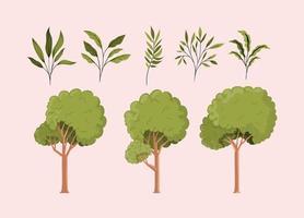 natuur pictogramserie vector