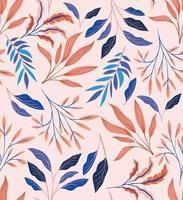 kleurrijke gebladerte naadloze patroon achtergrond vector