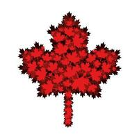 esdoornblad van het ontwerp van Canada vector