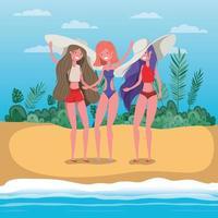 meisjes met zomerbadkledingontwerp