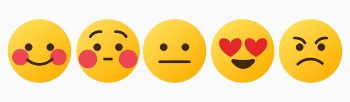 emoticon-reactie, schattig, bedankt, liefde, wachten - vector