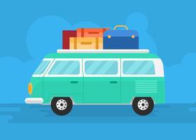 road trip van auto vector