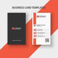 sjabloon voor moderne verticale visitekaartjes. briefpapierontwerp, plat ontwerp, afdruksjabloon, vectorillustratie.