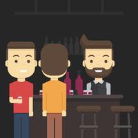 Drukke bar illustratie