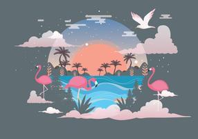 tropische landschap vol 3 vector