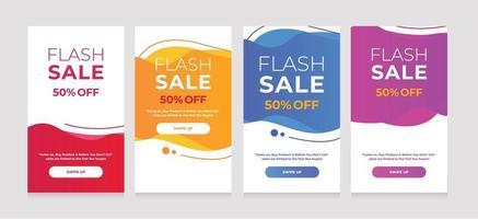 moderne mobiele dynamische vloeistof voor de beste verkoopbanners. verkoop banner sjabloonontwerp vector