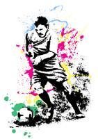Abstracte voetballer in actie