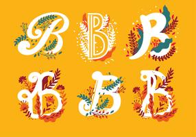 Letter B Typografie Vector