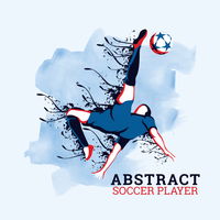 Abstracte voetballer