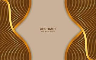 abstract ontwerp als achtergrond bruin en goud