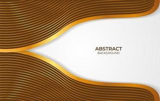 achtergrond abstract bruin en goud ontwerp vector