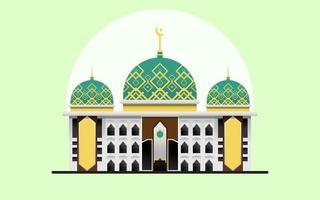 prachtige moskee gebouw vector