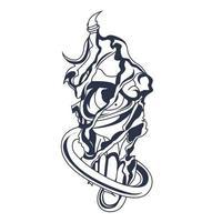 satan ijs inkt illustratie kunstwerk vector