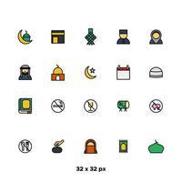 ramadan kareem pictogramserie vector