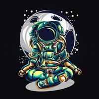astronaut yoga kunstwerk illustratie vector