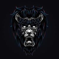 leeuwenkoning illustraties illustratie