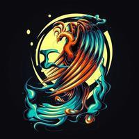 Phoenix kunstwerk illustratie vector