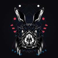 konijn kunstwerk illustratie