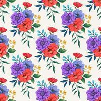 naadloos patroon met kleurrijke botanische bloemenontwerpillustratie.