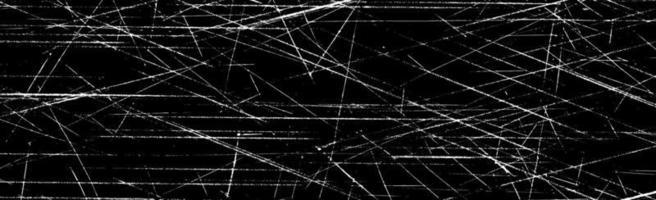 grunge witte lijnen en stippen op een zwarte achtergrond - vector afbeelding